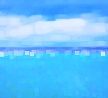 Sea and Sky Abstract by Natalie Kinnear