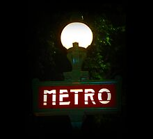 Paris Metro Sign by Ged J