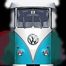 Blue Volkswagen VW iphone 5, iphone 4 4s, iPhone 3Gs, iPod Touch 4g case by Pointsale store.com