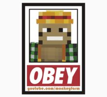 Obey Monkeyfarm - Stickers by monkeyfarm