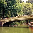 New York City Romance - Bow Bridge - Central Park  by Vivienne Gucwa
