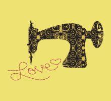Love stitching antique sewing machine Kids Clothes