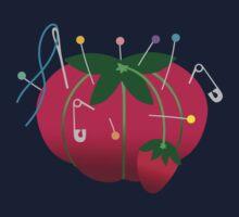 Sewing tomato strawberry pin cushion by BigMRanch