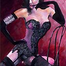 Burlesque Icon Dita Von Teese by mantonart