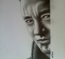 "Actor ""Tom Hanks"" photorealistic pencil portrait by ttpd618"
