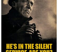 """He's In The Silent Service - Are You?"" World War II Poster (Reproduction) by Jeff Pierson"