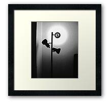 Cheap Motel Lighting Framed Print