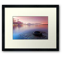Nature and Man - Redland Bay Qld Australia Framed Print