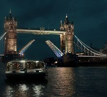 Tower Bridge and River Boat by Karen Martin IPA