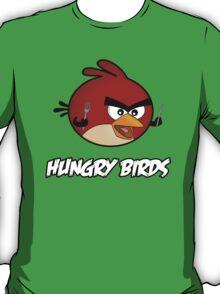 Hungry Birds - Angry Birds Parody: Little Red Bird T-Shirt