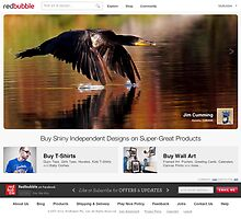 Redbubble Homepage July 8th 2012 by Jim Cumming