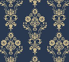 Damask pattern by Nataliia-Ku