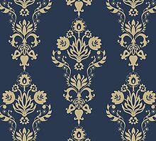 Damask pattern by Nataliia-Ku