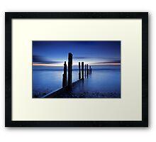 Blue Tide Framed Print