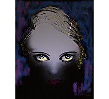 Blue Gaze - She's got Bette Davis eyes Photographic Print