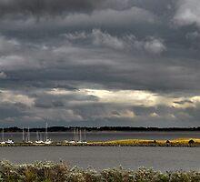 Dark clouds above Lake Grevelingen by Adri  Padmos