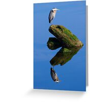 Great Blue Reflection Greeting Card