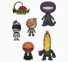 MonsterFruit Theater Small Sticker Sheet 2 by Allison Bair