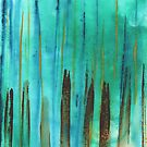Beach Fence Greeting Card by Janet Antepara