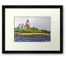 352 - COQUET ISLAND - DAVE EDWARDS - COLOURED PENCILS & INK - 2012 Framed Print