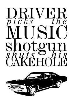 Supernatural - Driver picks the music... by glassCurtain