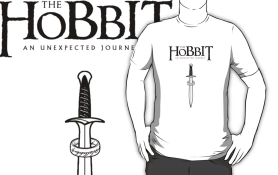 The Hobbit - Sting and the One Ring (black) by FabFari