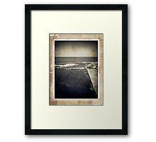 the seaside ~ a nostalgic study II Framed Print
