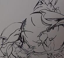 hummers, incomplete by Ellen Keagy