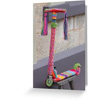 a warm scooter Greeting Card