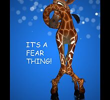 It's a fear thing iPhone case with giraffe by Moonlake