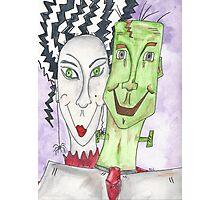 Mr. and Mrs. Frankenstein Photographic Print