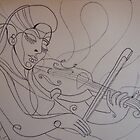 Thumbnail idea for violin portrait by Sally Sargent