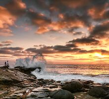 La Jolla Cove Sunset by Eddie Yerkish