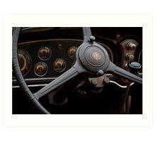 1932 Cadillac Dash Art Print
