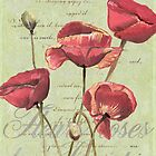 French Pink Poppies 2 by Debbie DeWitt