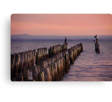 At the end of the jetty Canvas Print