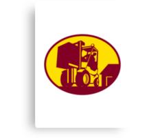 Forklift Truck Operator Retro Canvas Print