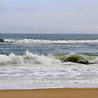 Surf at Nags Head Beach, North Carolina by Paula Tohline  Calhoun
