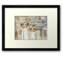seaside angels Framed Print