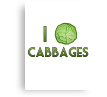 I Heart Cabbages Canvas Print