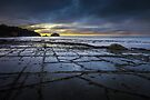 Tessellated Pavement at Sunrise by Jim Lovell