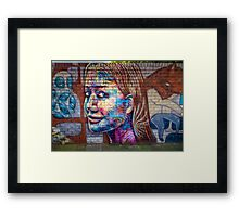 Painted Face Framed Print