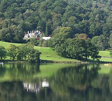 Deer Bolts Lodge Reflection - Grasmere Lake by Marilyn Harris