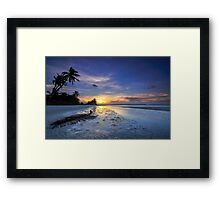 Frond on the Sand Framed Print