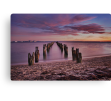 Bay of many colours Canvas Print