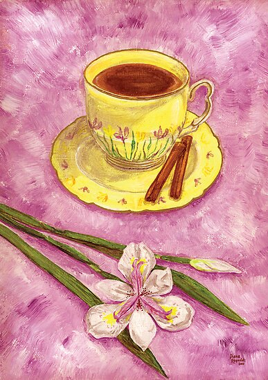 Let&#x27;s have tea with cinnamon and wild iris by didielicious