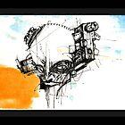 big head with a gun by michaelkatchan