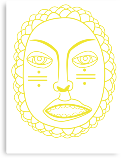Foster the People Face - Yellow by mursaydeees