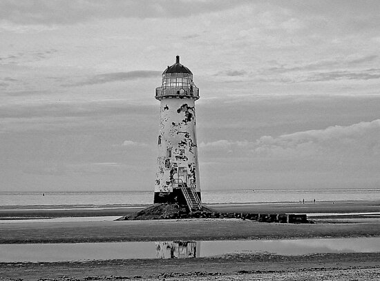 Point of Ayr Lighthouse.(Recently Sold). by Stan Owen