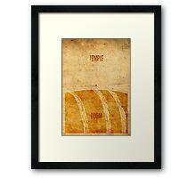 Temple (aged) Framed Print